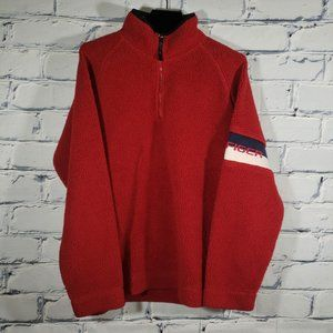 Plush Sherpa 1/4 Zip Pullover Ribbed/Knit Arm Cuff